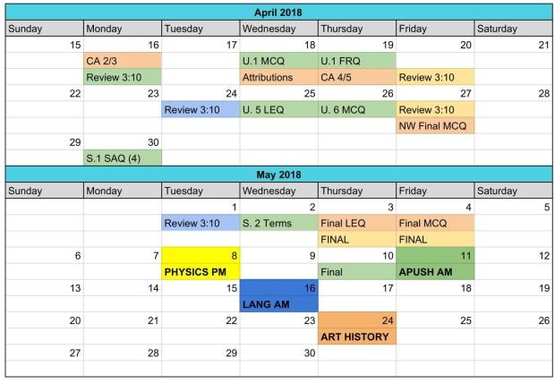 Study Assistant - Master Calendar-1