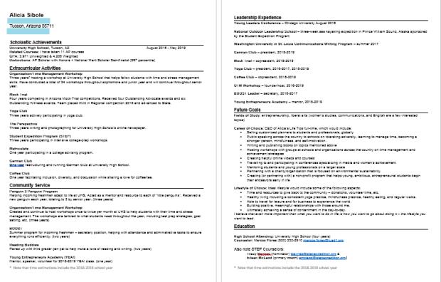 Resume Screenshot